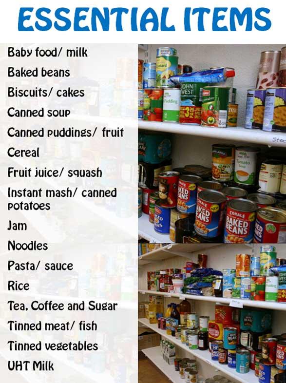 Harvest Community Wolverhampton Food Bank Essential Items